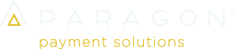 paragon light logo with yellow payment solutions tagline