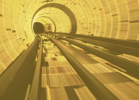 train moving in tunnel to represent point to point encyrption